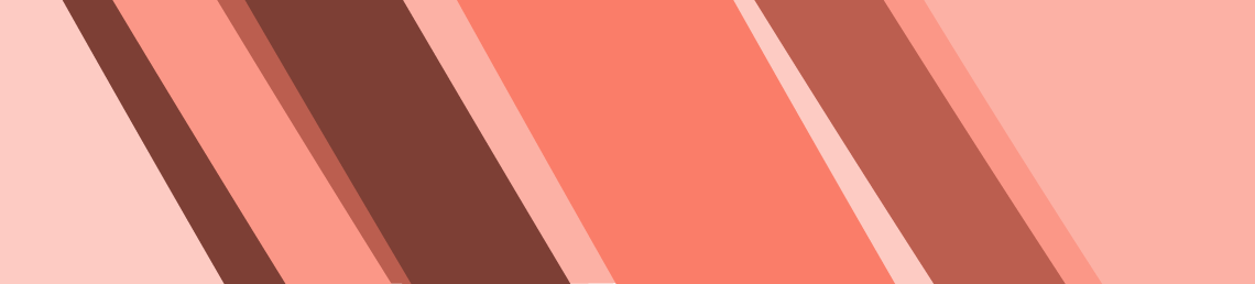 horizontal banner with diagonal stripes in various shades of peach colour