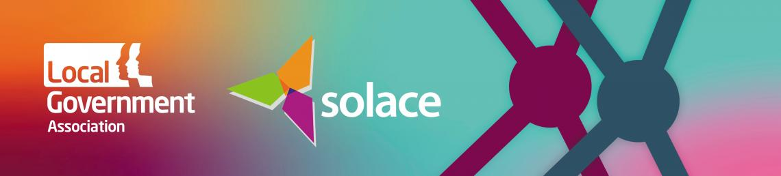 Banner image with LGA and Solace logos embedded