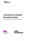 Learning from English devolution deals
