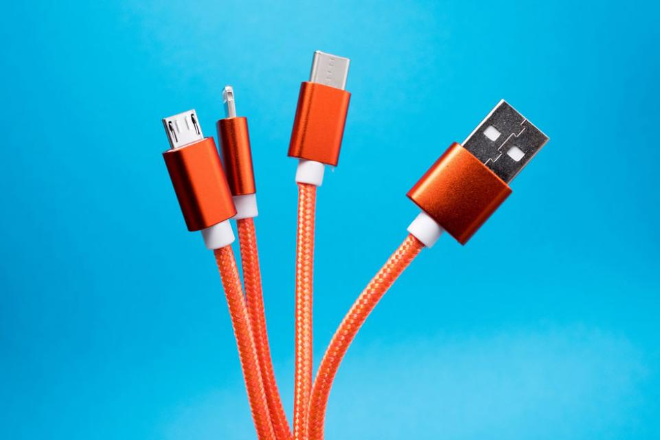 photo of usb cables